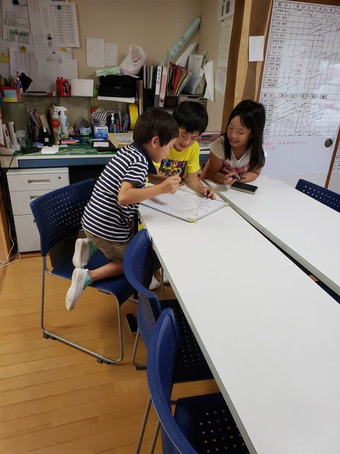 夏休みの様子(遊学舎)